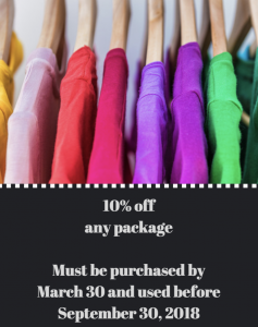 Spring Coupon, 10% Off Any Package